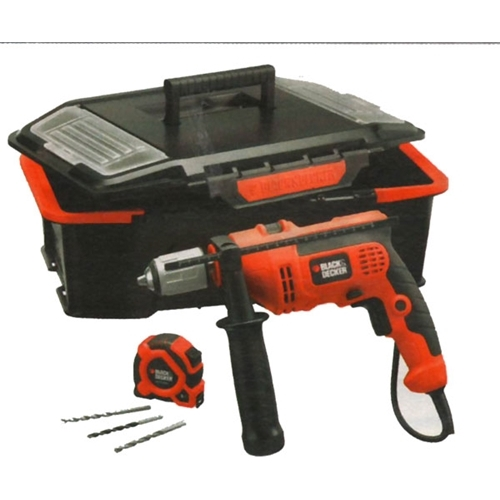 Trapano reversibile CD 714 CRAST Black&Decker con 4 accessori