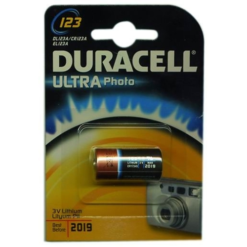 Pila litio CR123A 3V Duracell