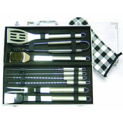 Set utensili per barbecues 10 pz.