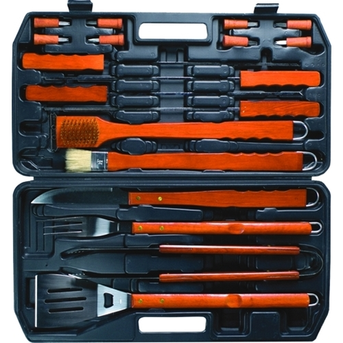 Set utensili per barbecues 18 pz.