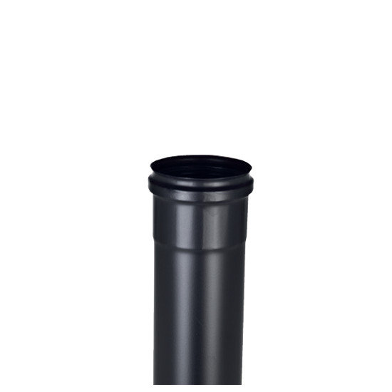 Tubo L= 0,5 mt. per stufe a pellets Inox Black